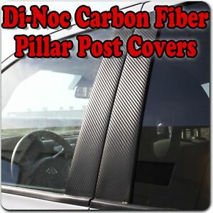 Di-Noc Carbon Fiber Pillar Posts for Jeep Compass 07-15 8pc Set Door Trim Cover