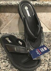 "NEW KHOMBU Men's Sz 11 M Sandals/Thongs ""CASEY"" Black Adjustable Strap FAST SHIP"