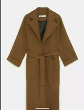 ZARA Brown Belted Wrap Maxi Coat *size L BNWT *RRP £160.00 SOLD OUT