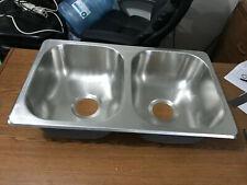 """RV Kitchen Sink 27""""x16""""x7"""" Double Basin Kitchen Sink, New, Stainless Steel #1W"""