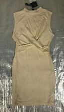 "BNWT LADIES "" TOPSHOP "" NUDE FRONT KNOT BODYCON DRESS - UK 10 ! RRP £24"