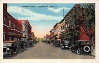 Postcard Howard Street in Greenwood, Mississippi~122357