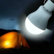 Solar Panel Powered LED Bulb Light Outdoor Portable Camping Tent Energy Lamp 15w
