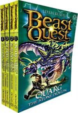 Beast Quest Series 19 Adam blade 4 Books Collection Set Quarg, Korvax, Vetrix