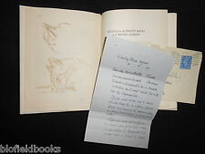 SIGNED + ALS + Drawing - F Ernest Jackson - Notes from the Sketch Books 1947-1st