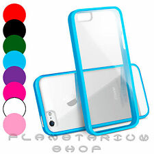 CRYSTAL CLEAR HARD BACK SILICON TPU BUMPER COVER CASE FOR IPHONE 5 5G 5S APPLE