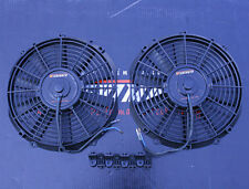 TWO MISHIMOTO RACING THIN Radiator Fan 12""