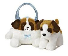 St. Bernard Puppy Dog Pet Carrier Purse Aurora Plush Stuffed Animal Toy 09806