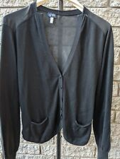 ARMANI JEANS LADIES COTTON  FRONT / SILK BACK CARDIGAN SIZE 46 AS NEW RRP$189