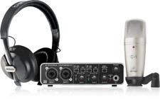 New Behringer U-Phoria Studio Pro Audio UMC202HD Podcast Bundle Auth Dealer!