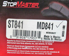 BRAND NEW STOP MASTER BRAKE PADS MD841 / D841 FITS VEHICLES LISTED ON CHART
