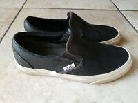 Vans Classic Slip On Espadrilles  Flats Black Women's Shoes  Size 7