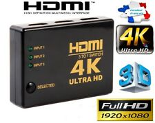 4K Commutateur HDMI HUB 1080p Switch Splitter 3D 3 Ports Full HD Répartiteur