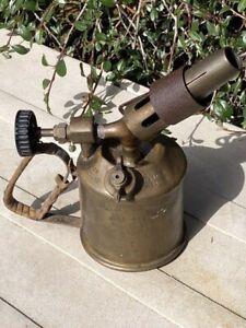 Vintage Max Sievert Benzoline Brass Blow Torch type S for restoration