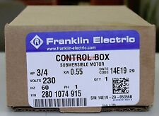 FRANKLIN ELECTRIC 2801074915 FE 3/4 HP CONTROL BOX for 3 Wire SUBMERSIBLE PUMP