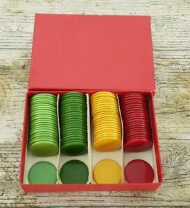 Joblot of 93 Vintage 25 mm Coloured Bakelite Tiddlywinks or Game Counters