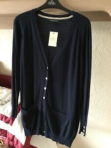 NEW Ladies NEXT size 14 petite Navy cardigan