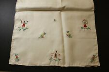 Vintage Embroidered Dresser Scarf - Colorful and Beautiful condition