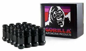 "Gorilla Forged Racing Lug Nuts Kit 12-1.50 Thread, 3/4"" (19mm) Black 45038BC-20"