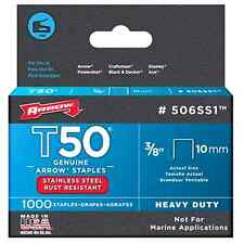 Arrow Fastener 506SS1 Genuine T50 Stainless Steel 3/8-Inch Staples, 1,000-Pack .
