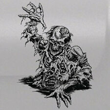Zombie Skull Brain Side Vinyl Tailgate Hood Window Decal Vehicle Truck Car SUV