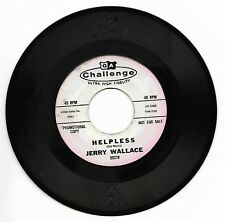 JERRY WALLACE-CHALLENGE 59278 RARE PROMO COUNTRY 45RPM HELPLESS VG+ PLAYS GREAT