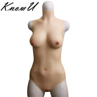 D cup Fullbody Suit Breast Forms Liquid Silicone One-Piece Tight Insertable 2018