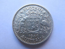 AUSTRALIAN 1940 SILVER 2 SHILLINGS FLORIN King George VI Good VF CONDITION