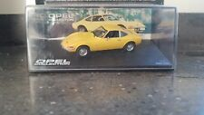 Opel GT yellow diecast model car IXO 1/43- New in blisterpack