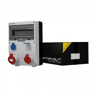 Distribution Board Power Box Td 32A 16A 2x230V Swiss System Type T23 IP44 2220
