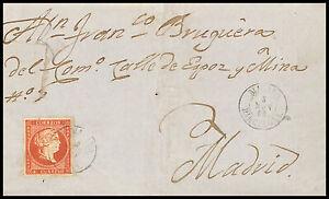 1859.Ed:48.Carta.Isabel II.Mataro-Mad.Mat.Fchd T.II MATARO/5NOV59/BARCELONA