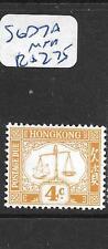 HONG KONG    (P2305B) POSTAGE DUE  4C   SG D7A  MNH