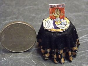 Dollhouse Miniature Halloween Fortune Teller Table Top 1:48  1/4 inch scale K69