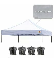 ABCCANOPY Pop Up Canopy Replacement Top Cover 100% Waterproof White