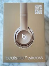 Beats by Dr. Dre Solo 2 Wireless Over the Ear Headphones - Gold NEVER USED