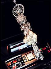 Car ornaments hanging pendant decorations mirror crystal interior accessories