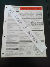 FICHE TECHNIQUE AUTOMOBILE RTA NISSAN SUNNY 1.4 LX (CL 8)