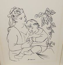 "PICASSO ""MOTHER AND CHILD"" ORIGINAL SILKSCREEN"