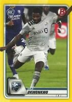2020 Topps Bowman Major League Soccer Yellow Parallel /75 MLS (#21 - #40)