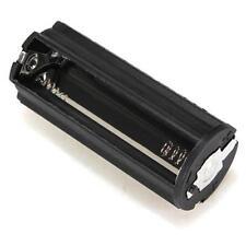 HL Black Cylindrical 3 AAA Plastic Battery Holder Adapter Case Box Flashlight