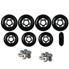 Outdoor Inline Skate Wheels 72mm/80mm Blk HILO Rollerblade Hockey Abec9 Bearings
