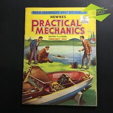 FEB 1953 'PRACTICAL MECHANICS' NEWNES 1:1 RADIO CONTROLLED BOAT MECHANISM