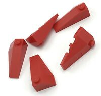 Lego 5 New Red Wedges 4 x 2 Triple Right ONLY Parts