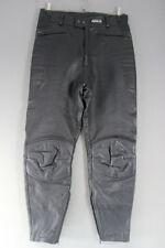 ASHMAN BLACK COWHIDE LEATHER BIKER TROUSERS - WAIST 32 INCH/INSIDE LEG 28 INCH