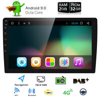 """Double 2 Din 10.1"""" Android 9.0 Car Stereo GPS Radio HD BT Navigation Head Unit"""