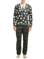 The Nightmare Before Christmas Pajamas 2 Piece Sleep Set Mens Cardigan PJs New