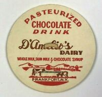 D'Amelio's Dairy Frankfort NY New York Chocolate Drink Vintage Milk Bottle Cap