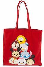 Disney Store Collectibles Tsum Tsum Canvas Tote Shoulder Bag Beach Purse