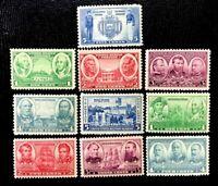 1936-37 US SC #785-794 Arm Issue  MNH/OG