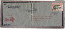 1939 Typed Cover From Manilla Via Clipper Air Mail To Usa My Ref 1272